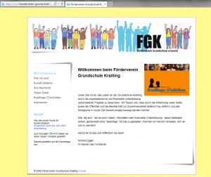 Die ehemalige FGK-Website